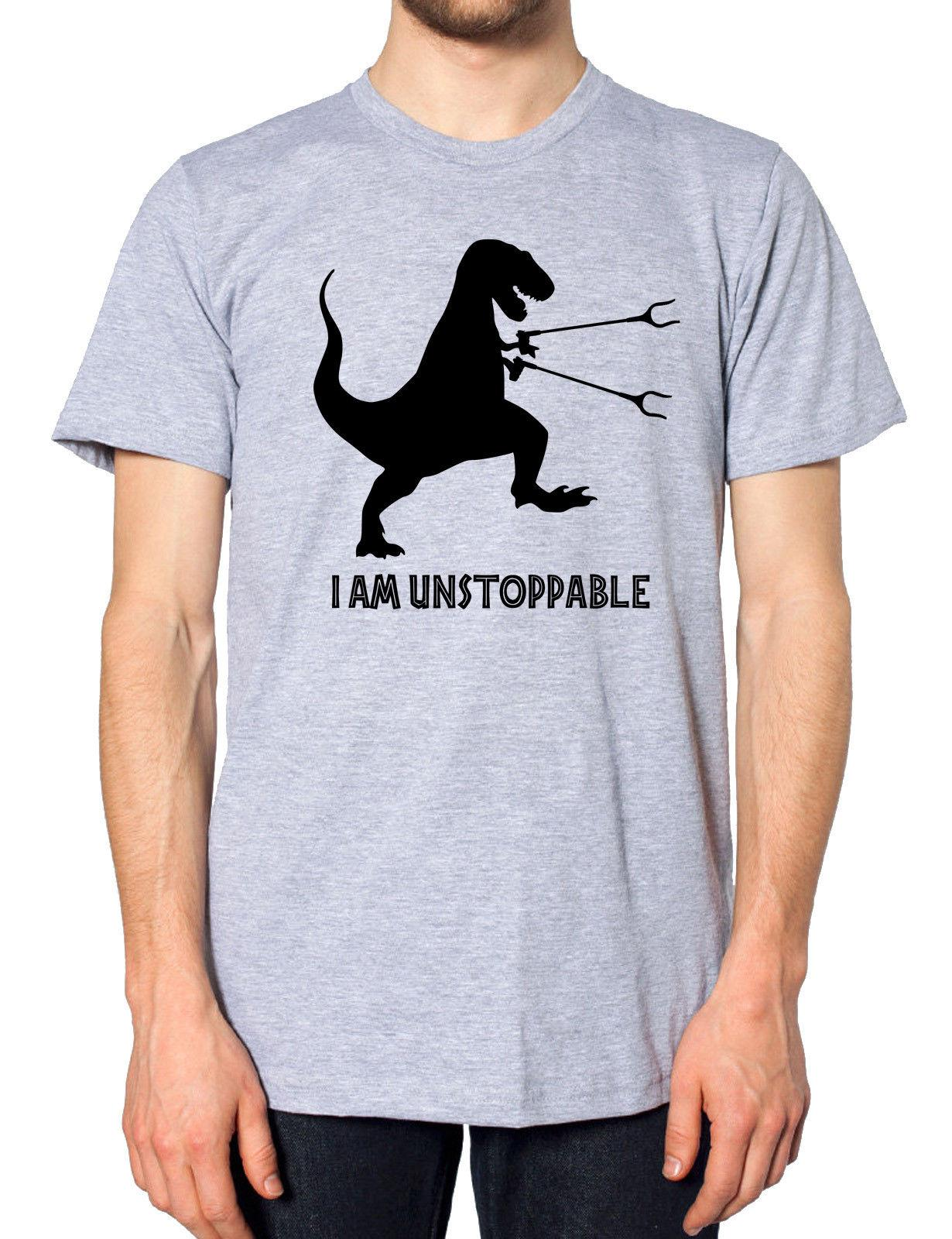aa80048b I Am Unstoppable T Rex T Shirt Tee Men Dinosaur Boy Gift Funny Tshirt Top  J8 Brand Shirts Jeans Print Online Buy T Shirt Best T Shirt Shop Online  From ...