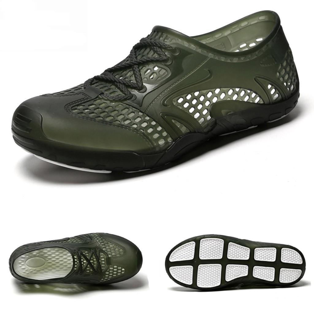 MUQGEW Atmungsaktive Männer Sandalen Sommer Schuhe 2019 Hohl Licht Strand Schuhe Männer Casual Sandalen Outdoor Männlichen Schuhe Plus Größe