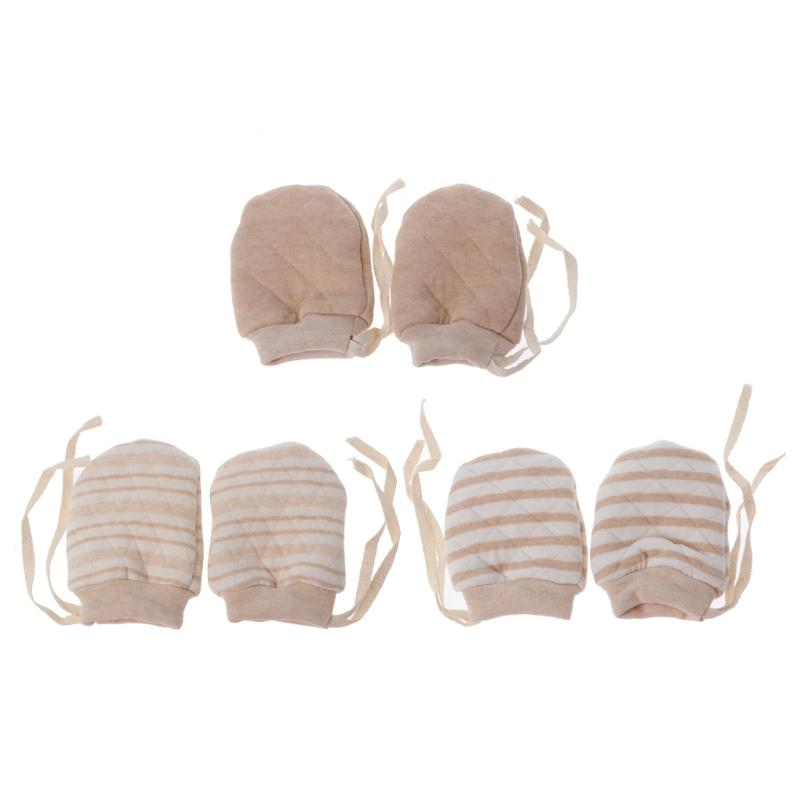 Winter Thicken Baby Anti Scratching Gloves Newborn Protection Face Mittens -m15