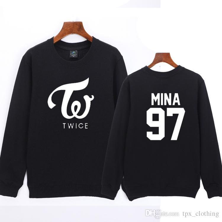 6f6655b84e14 2019 Myoi Mina Hoodies Twice 97 Sweat Shirts Cheer Up Unisex Clothing  Pullover Coat Outdoor Autumn Jacket Spring Sweatshirts From Tpx clothing