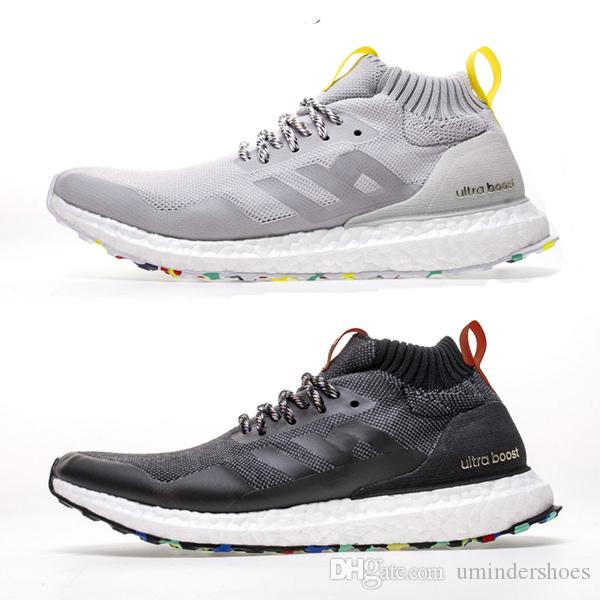 brand new 38a4a 230a7 Mid Ultra Boosts Multicolor Treatment Ultraboost Shoes Ronnie Fieg Kith  Sneakers Black White Grey Burgundy Turquoise Size 13 Gym Althentic