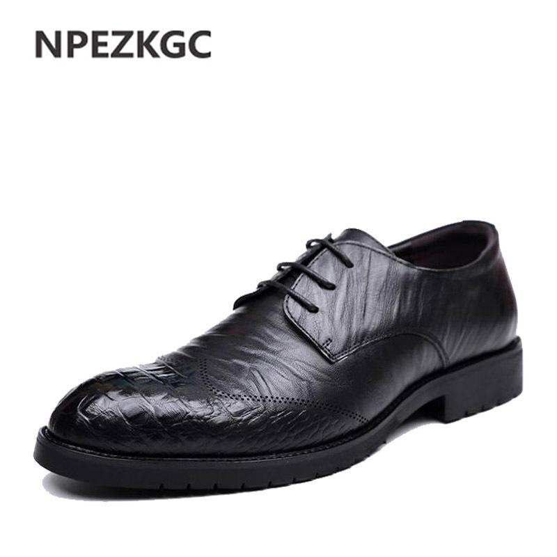 NPEZKGC Men s Business Dress Shoes England Style New Breathable Lace-up  Shoes Flat Leather Shoes Men Online with  43.97 Pair on Ycqz6 s Store  72117a1dbc5