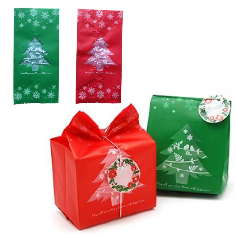 Xmas 50pcs/ Bag Christmas Kraft Paper Candy Box Gift Box For Children Kids Xmas Tree Christmas Party Festive Decoration Supplies