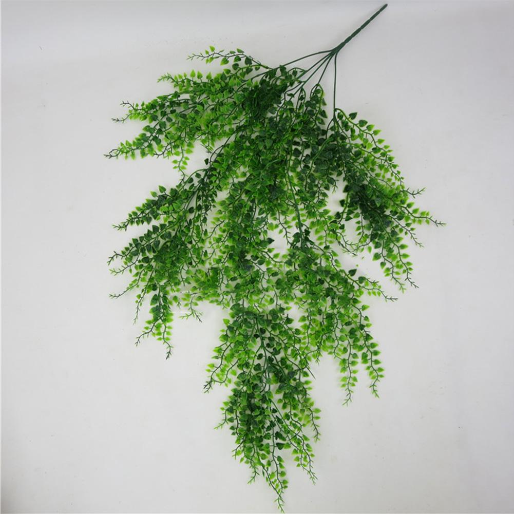 Garden Office Green DIY Club Wall Hanging Artificial Plant Bar Fake Vine Decorative Living Room Home Plastic Leaves