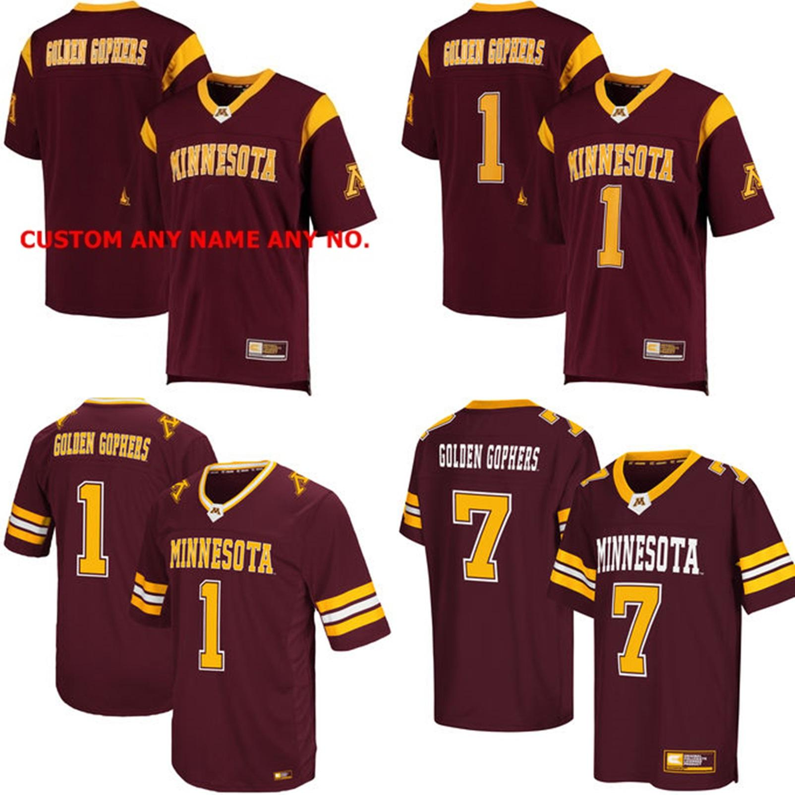 size 40 06797 49ea4 New NCAA Minnesota Golden Gophers Mens Womens Kids Best quality Jersey 100%  stitched Custom Any Name Any No. College Football Jerseys Maroon
