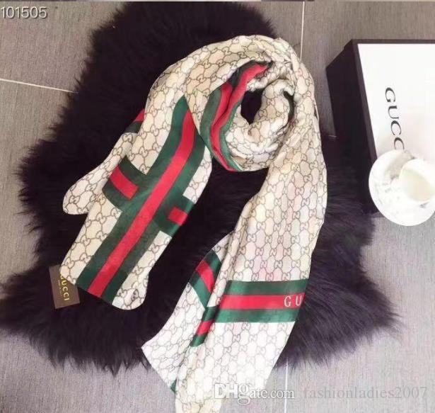 bfdbb04e513 Women Silk scarf 2019 New Hemming Long Scarves Shawls Wrap Scarfs for Women  With Tag 180x90Cm Shawls Collar Headband