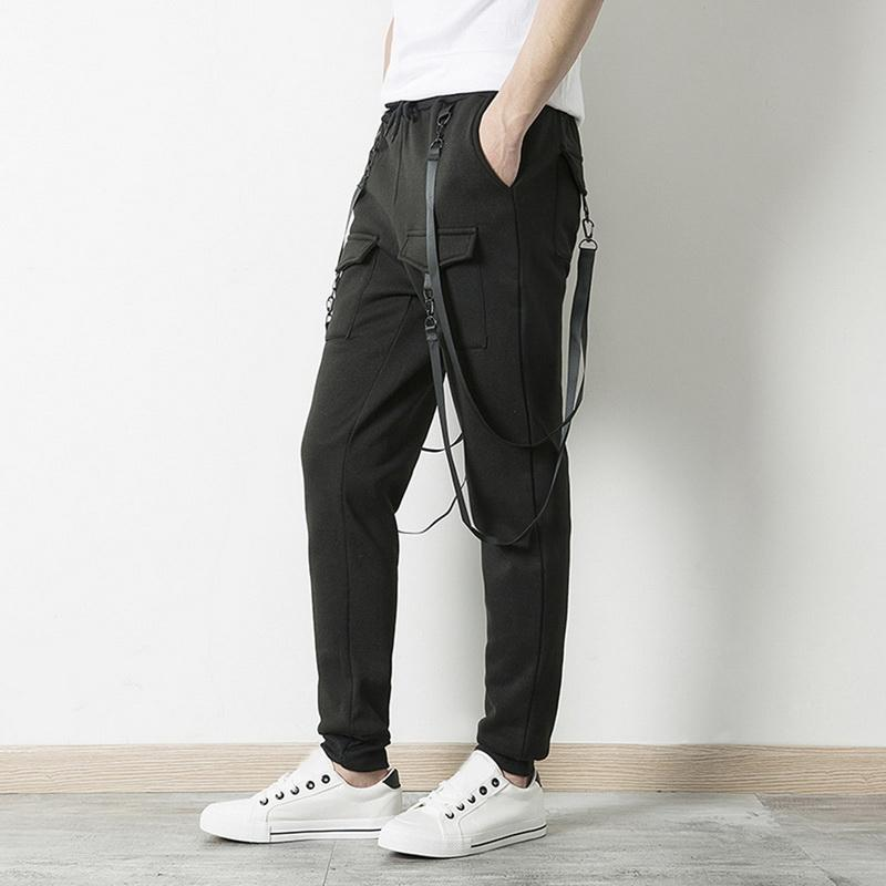 8db279d1a60 2019 LASPERAL 2018 Men S Pant Pockets Full Length Men Hip Hop Joggers Pants  Trousers Men Belt Fashion Cool Sport Streetwear Plus Size From Cadly
