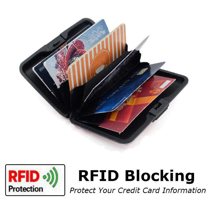 Purdored Flamingo Card Holder Unisex Aluminum Business Card Holder