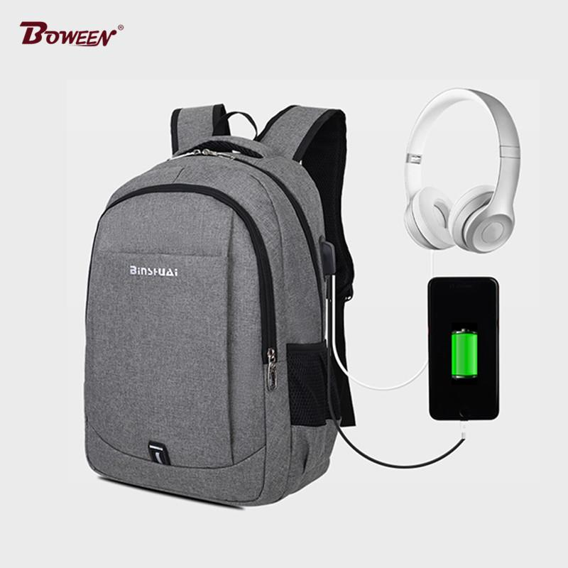3066959e22bf Usb Charging Schoolbags for Teenagers Boys University Student High ...