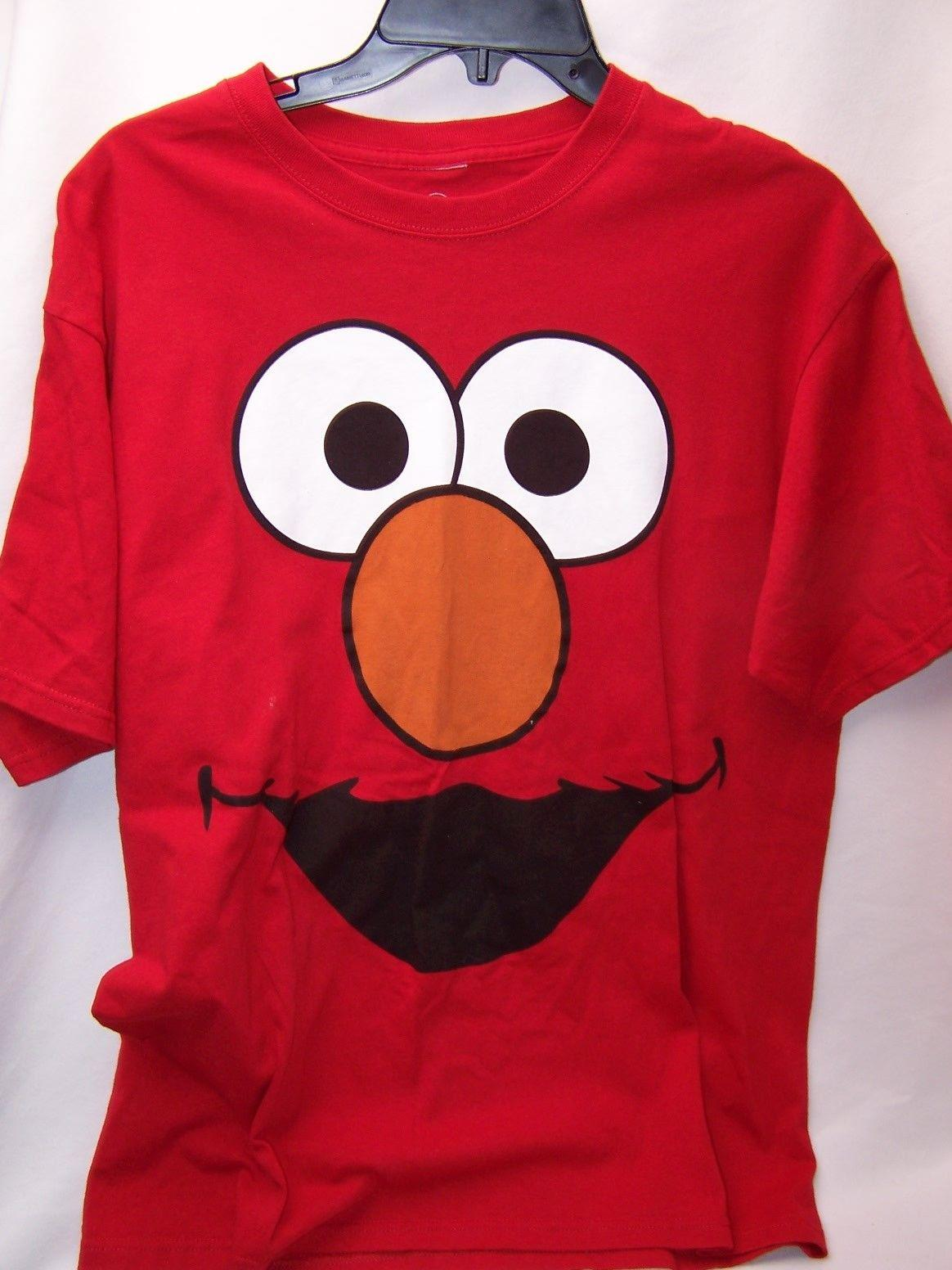 5cdb10435 Official Sesame Street Oscar Smile Face Adult T Shirt ELMO LARGE Men Women  Unisex Fashion Tshirt Cool T Shirts For Boys Online Cool Team Shirts From  ...