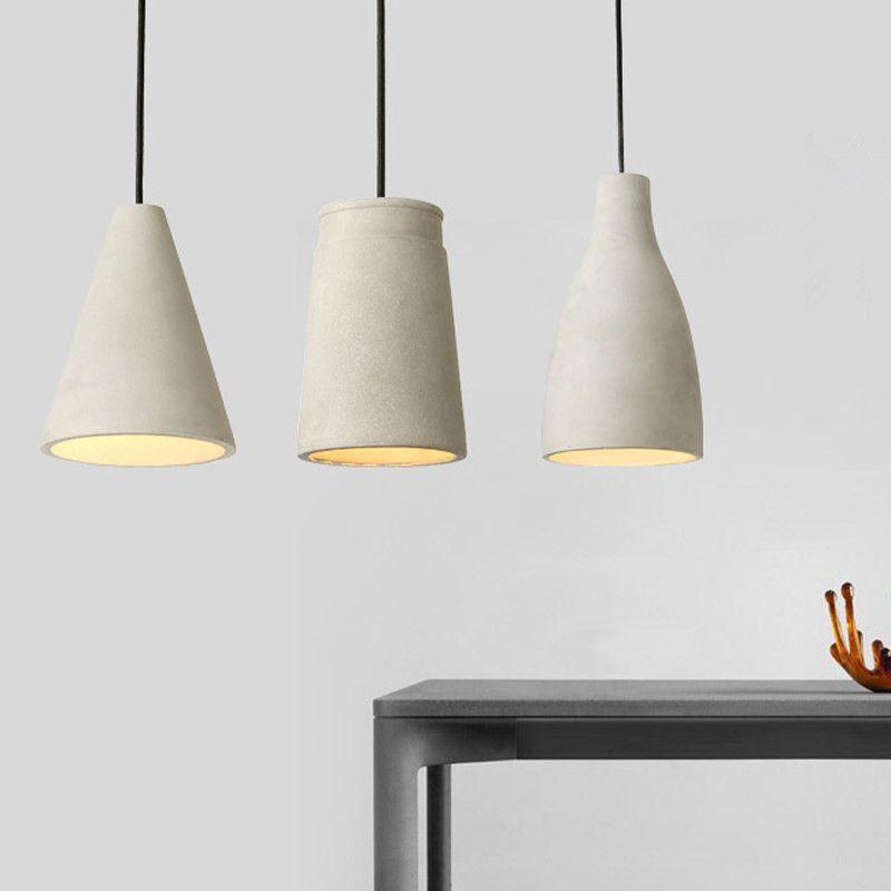 Salle À Lumière Ciment Manger Chevet Danois Restaurant Béton Lampe Design Suspendu Jess Pendentif Loft Chambre CeWrdBxo