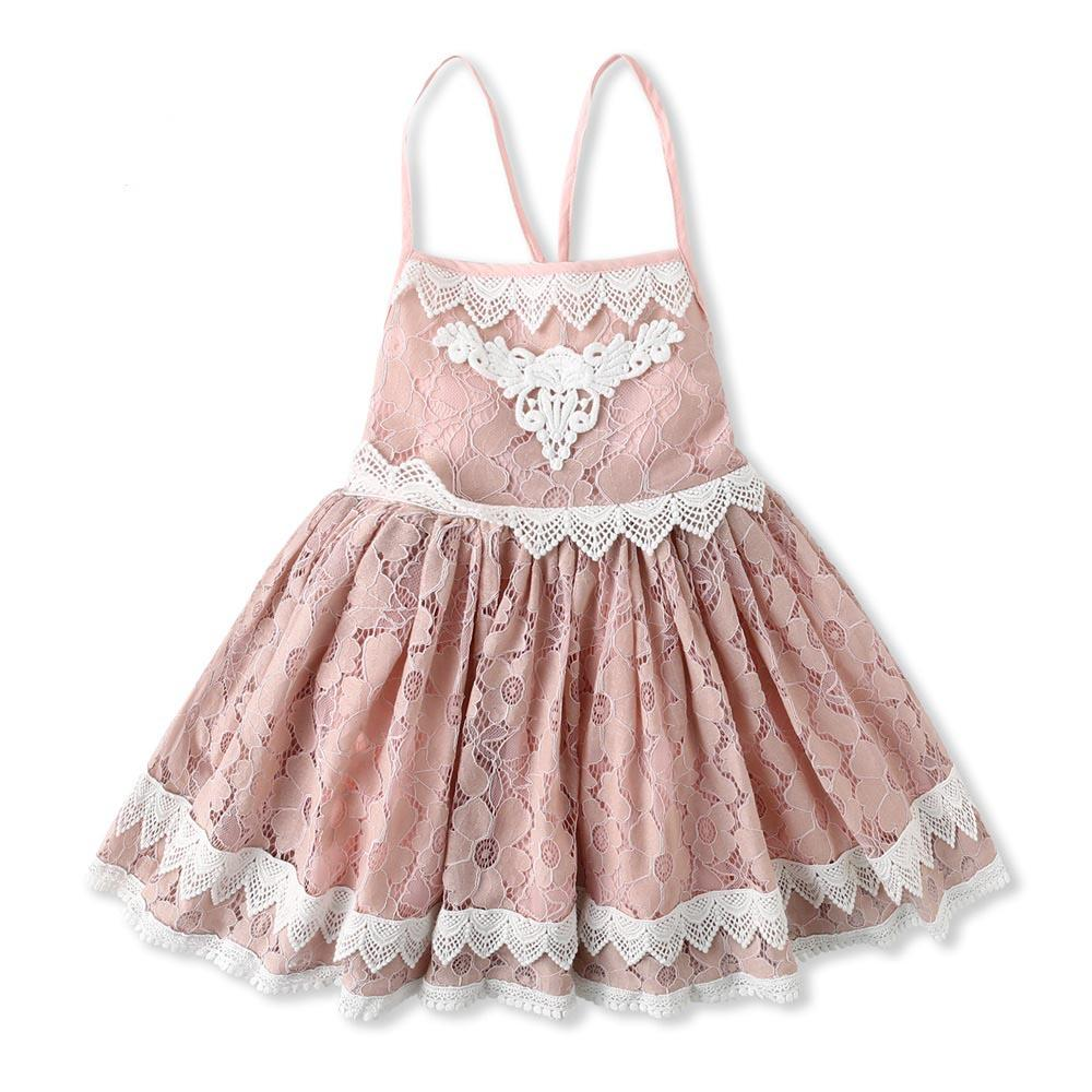 1c062a9f187aa 2019 Exquisite Girl Kids Clothing New Arrival Summer Gir Elegant Lace  Suspender Design High Quality Cotton Baby Kids Princess Dress From Elapp,  ...