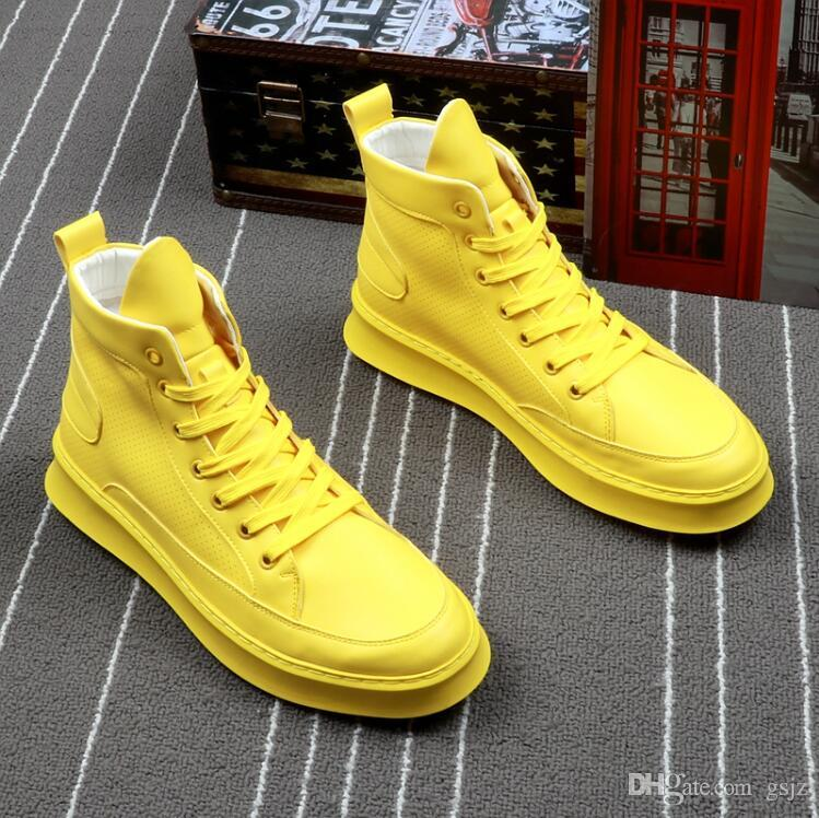 New Fashion Men Casual Shoes High Help Sneakers Men Shoes Hip-hop Casual Ankle Boots Lace-Up Superstar White Male Shoe H426