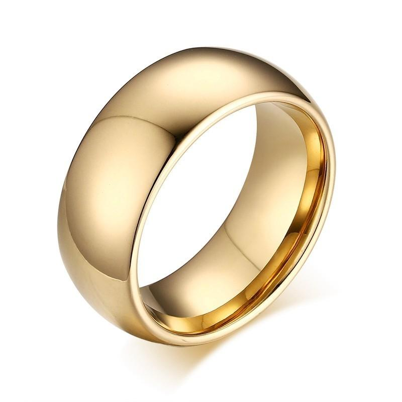 33affeac00e62 Mens Gold Color 100% Tungsten Carbide Rings Carbon Wedding Engagement Band  Fashion Jewelry