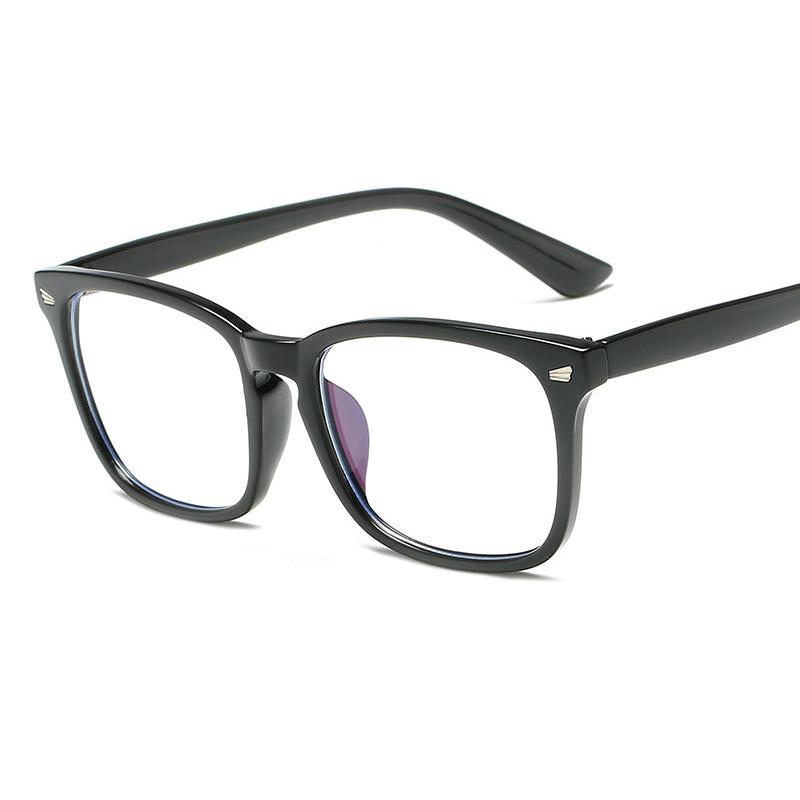 Compre Arroz Quadrado Retrô Prego Óculos Quadro Moda Caixa Grande Homens E  Mulheres Personalidade Decorativa Plana Espelho Estudante Óculos Frame. De  ... dcd51d141b