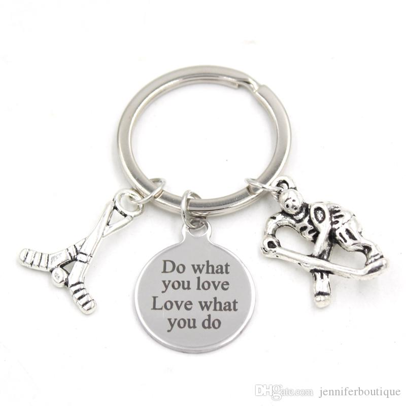 New Arrival Stainless Steel Key Chain Key Ring Sport Ice Hockey Key Chain  Keyring Hockey Lover Gifts For Men Women Jewelry UK 2019 From  Jenniferboutique 4278743ce
