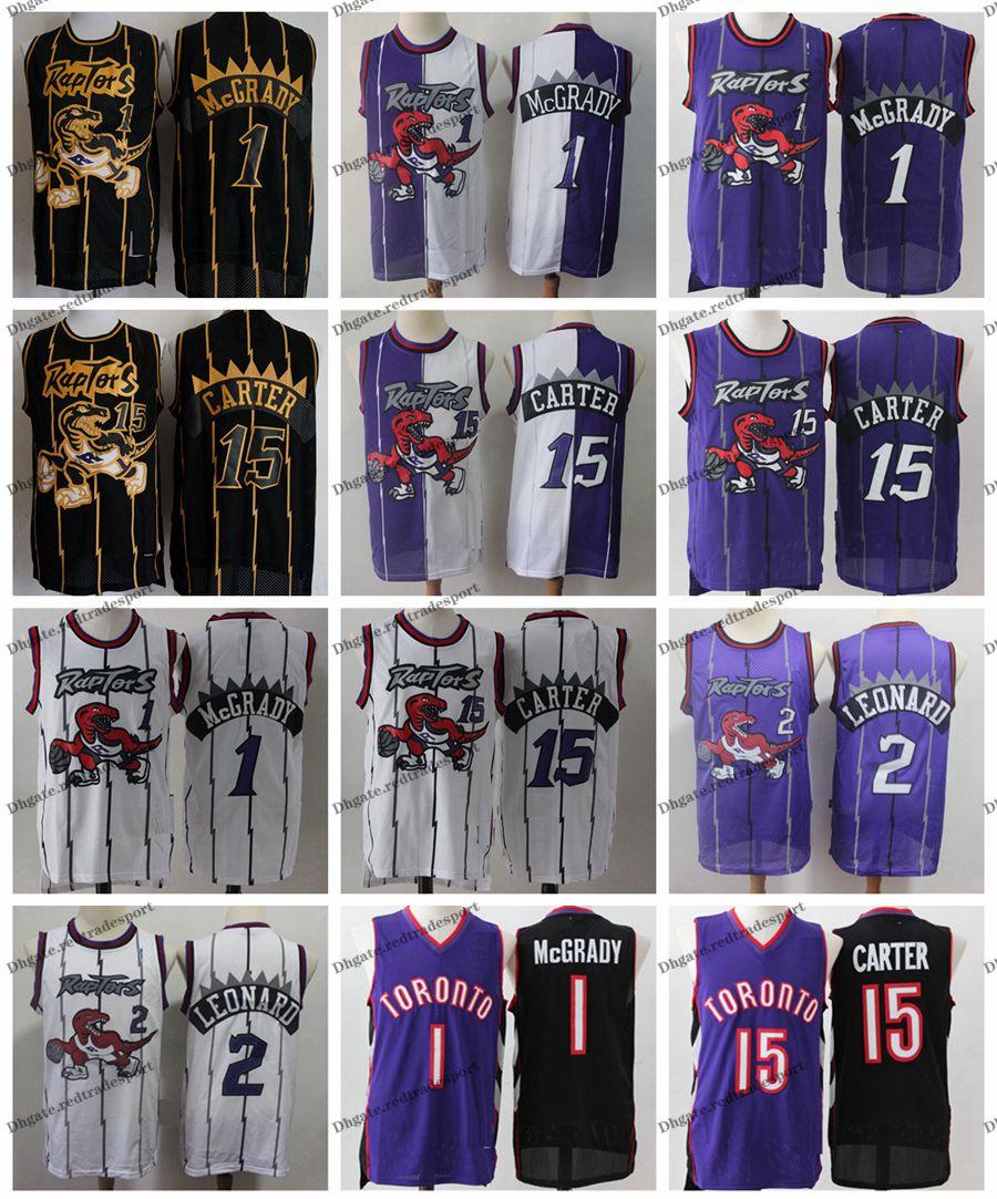 buy popular 64040 60696 Vintage Mens Toronto Kawhi Leonard Raptors Basketball Jerseys Cheap Tracy  McGrady #15 T-Mac Vince Carter Stitched Shirt S-XXL
