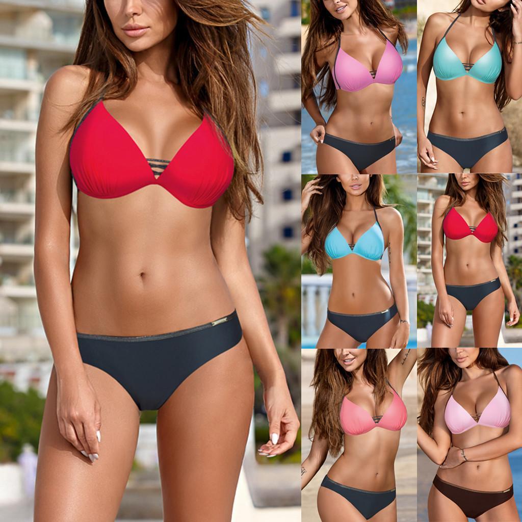 5bc8706ead Compre Ropa Interior Ropa Interior Sexy Mujer Lencería Porno Juntos Bandeau  Bandage Bikini Set Push Up Underwe Brasileño Beachwear   78 A  23.2 Del ...