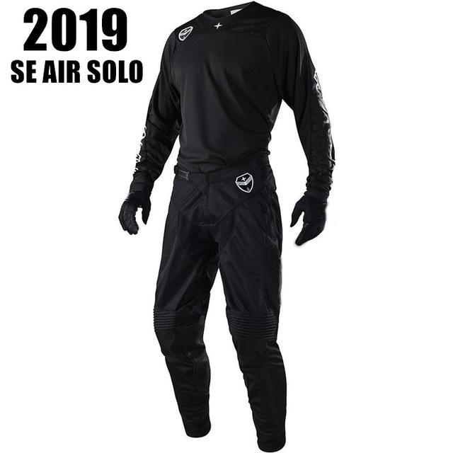 2019 SE AIR SOLO Motorcycle MX GEAR SET Black Moto Clothing hot Moto costume Dirt Bike Motocross Jersey And Pant Y