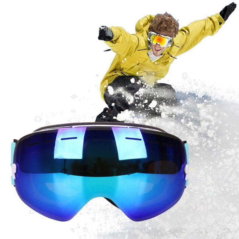fc99e6de59 Winter Snowboard Skiing Goggles Men Women Dustproof Anti Fog Snow ...
