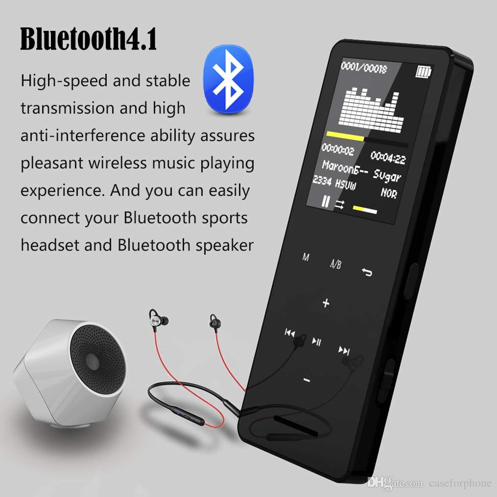 1pcs MP3 MP4 Player bluetooth Speaker touch screen hi fi fm radio mini USB mp3 sport MP 3 HiFi music player portable metal walkman