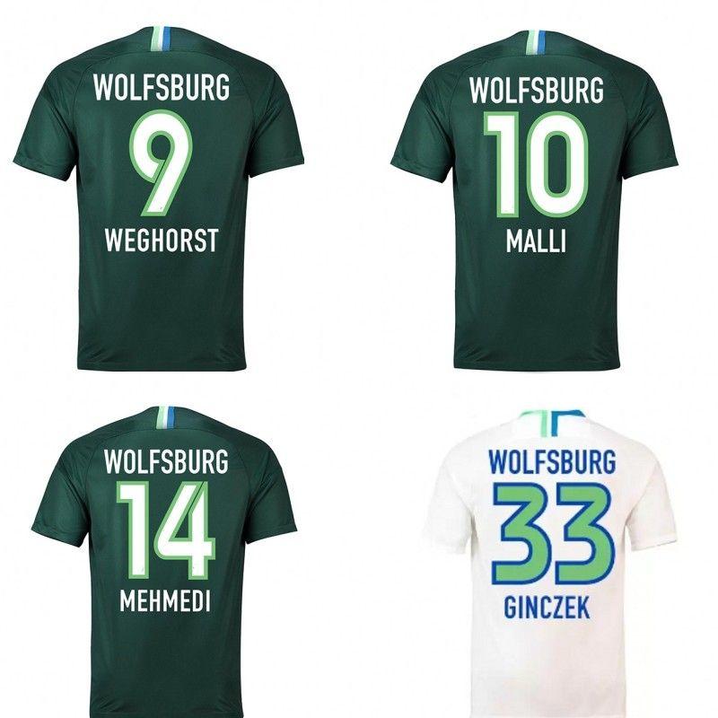 91f5d1fc6 2019 18 19 Wolfsburg Soccer Jersey KALUS MALLI GINCZEK WEGHORST Origi Thai  Quality Wolves Shirt Men Hoem Away VfL Football Jerseys From Wedding66