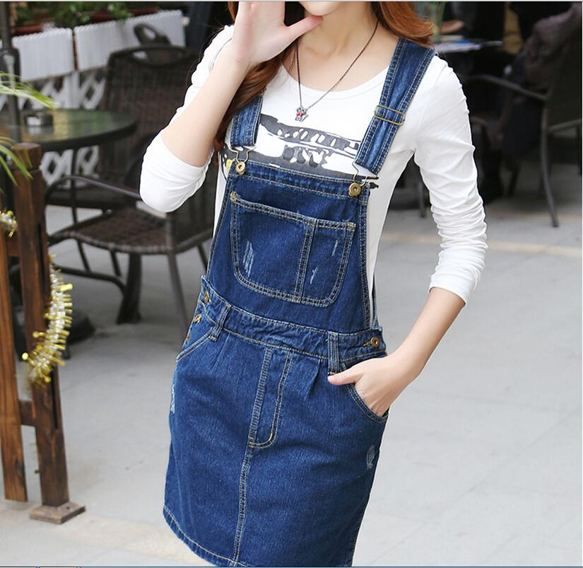 Coreano StrapJeans Dress More Girl Denim Sun vestidos 2017 Simple denim dress Brand Designer Woman Preppy Style Plus Size Club 20