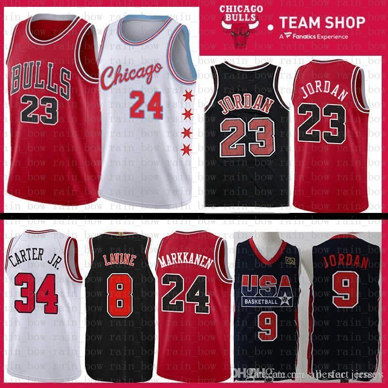 3c6aa1643acd 2019 24 Markkanen 2019 New Chicago Jersey Bulls 23 Michael Zach 8 LaVine  Lauri Wendell 34 Carter Jr. Mesh Retro The CITY Basketball Jerseys From ...