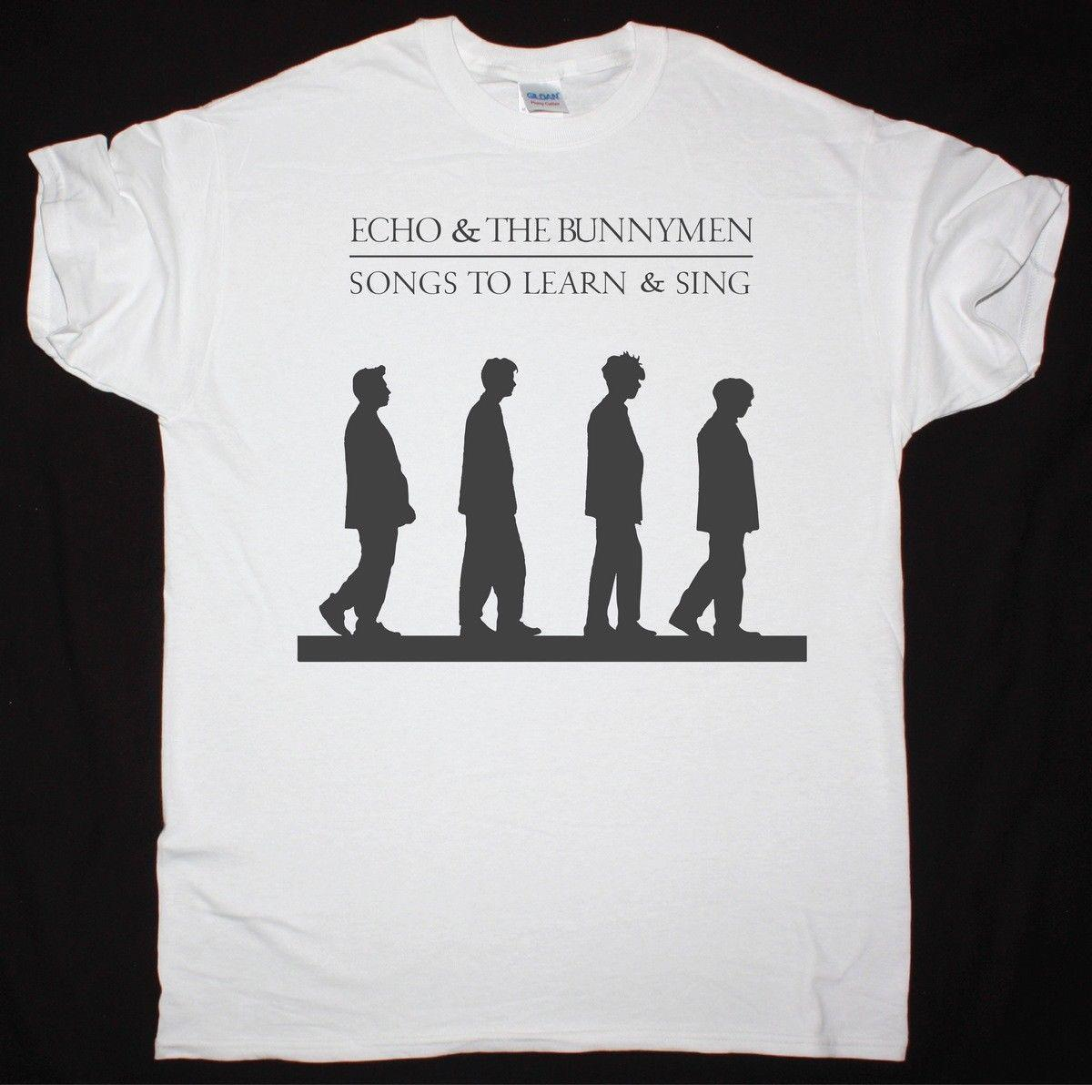 ECHO AND THE BUNNYMEN SONGS TO LEARN & SING WHITE T SHIRT THE CHAMELEONS  Mens 2018 fashion Brand T Shirt O-Neck