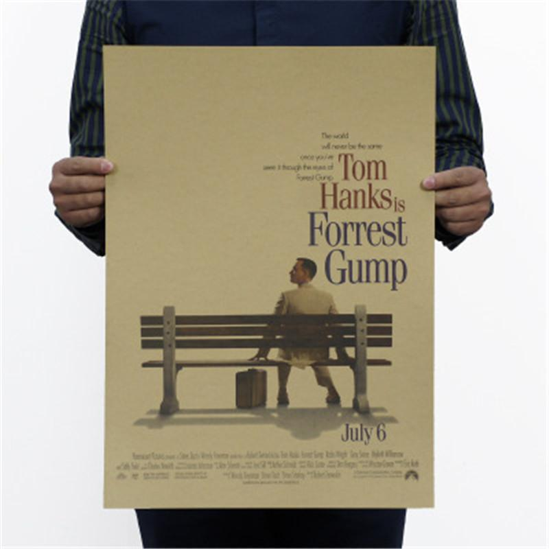 Forrest Gump Self Improvement Classic Movie Poster Home Furnishing  Decoration Kraft Drawing
