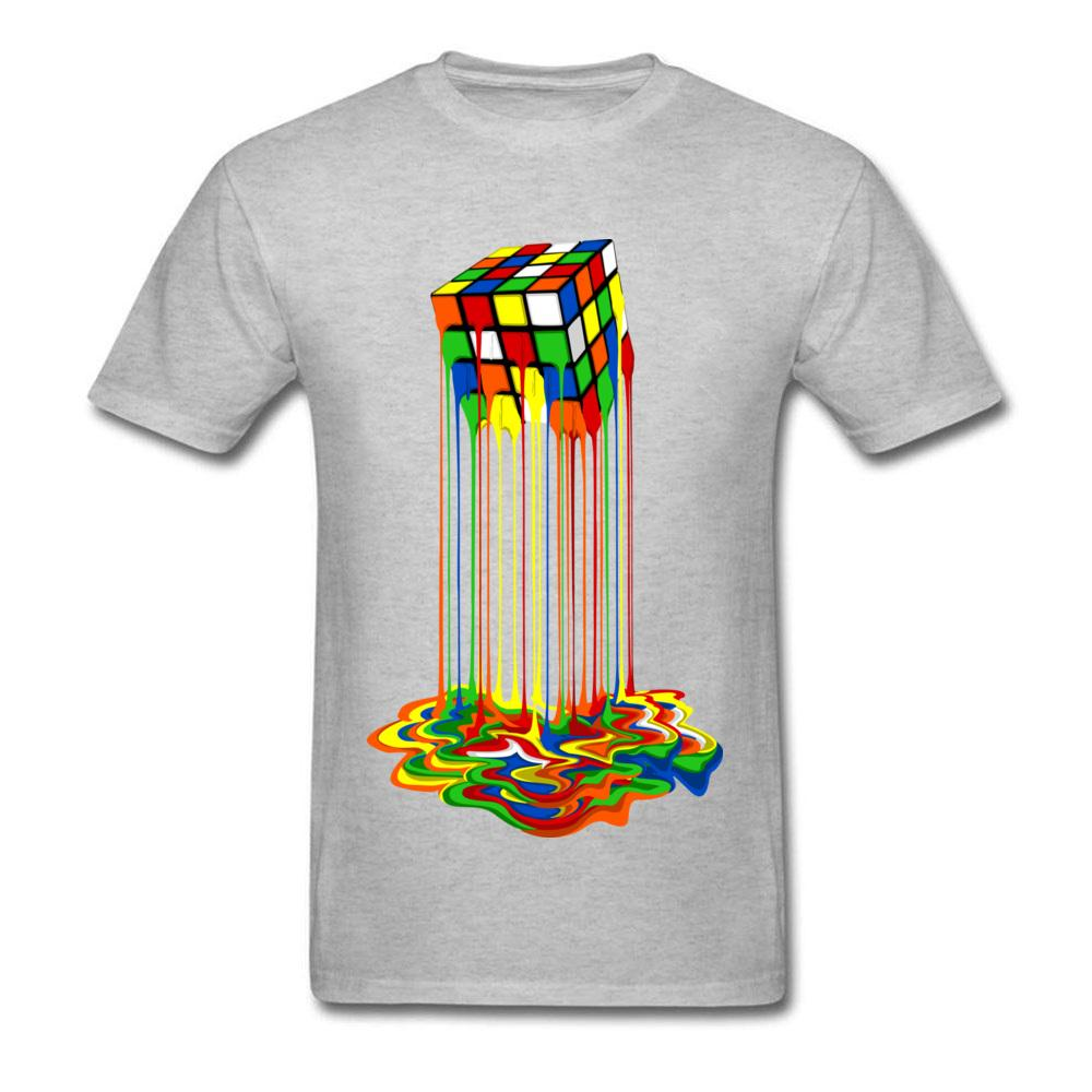 6a43ac193 Sheldon Cooper T Shirts Mens Rainbow Abstraction Melted Rubix Cube Tshirt  100% Cotton Best Nice T Shirt For Gift Boy Clothing Of T Shirts Online Buy T  ...