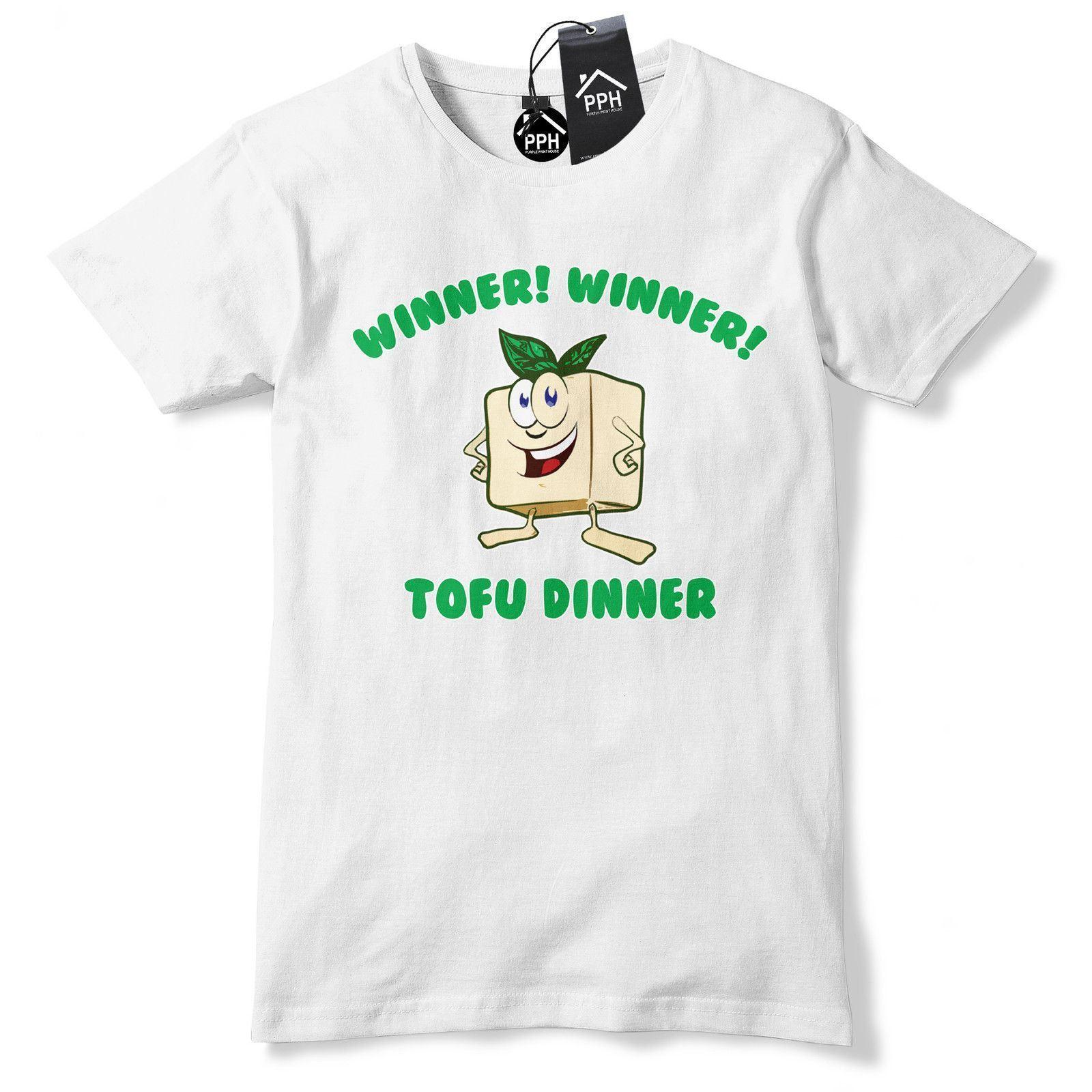 e28ebadf618 Winner Winner Tofu Dinner T Shirt Vegan Food Veg Vegetarian Meat Tee Top  631 Fashion Style Men Tee 2019 fashion t shirt