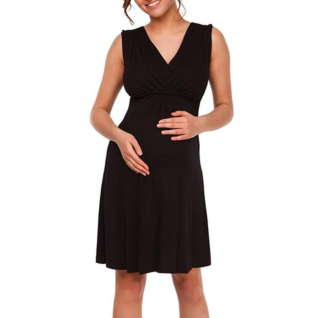 Women Maternity Dresses Sleeveless Tank Breastfeeding Elegant Summer Nursing Dress Party Pregnant Clothes Vetement Femme 19jun12
