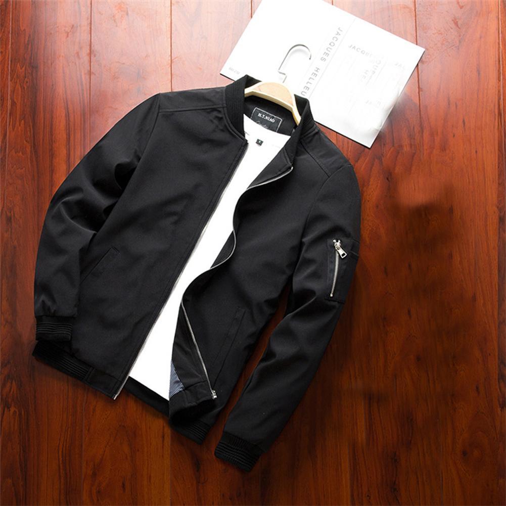 202099% boa qualidade Novo Homens Inverno Casual Confortável Jacket Moda Quente Brasão Baseball Magro Exteriores Sobretudo No Loss