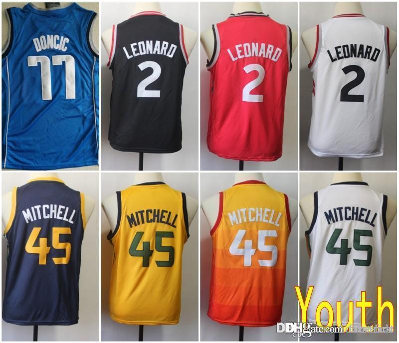 34182c987afb Youth Kids Dallas 77 Doncic Mavericks Jersey Utah 45 Donovan Luka ...