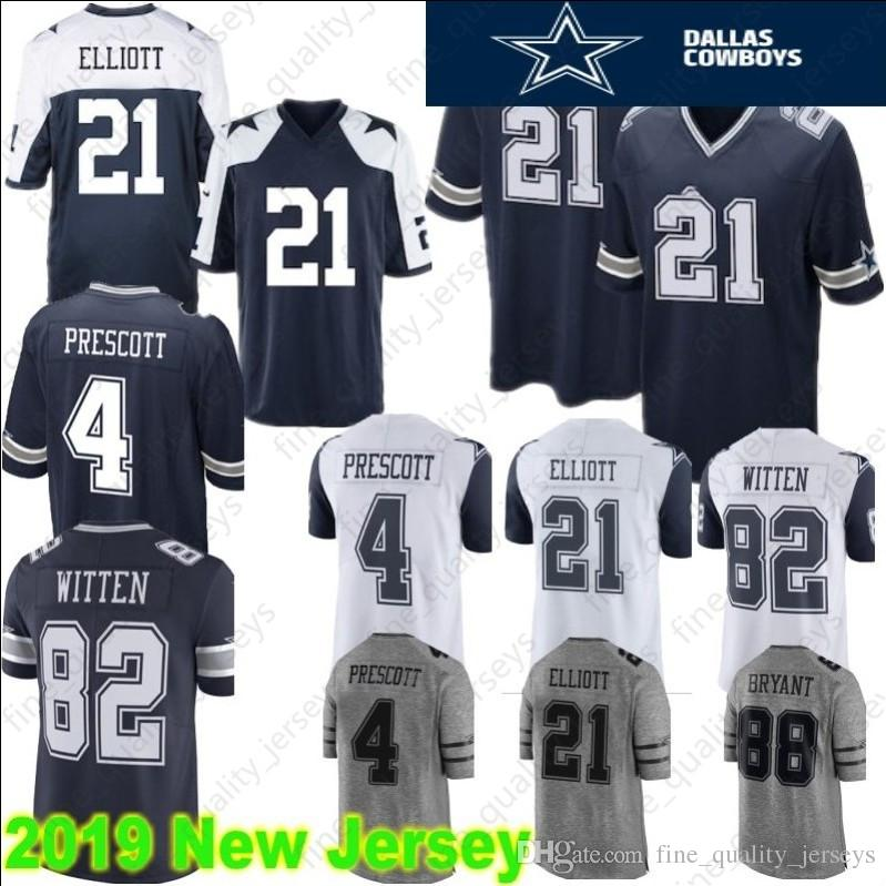 New 2019 Hot 19 Amari Cooper Dallas Cowboys Jersey 4 21 Ezekiel Elliott  for sale