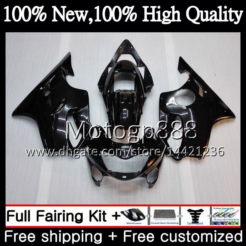 Body For HONDA CBR600F4 CBR600 F4 99 00 FS 44PG21 CBR 600F4 99 CBR600 FS CBR600FS CBR 600 F4 1999 2000 Fairing Bodywork kit Glossy black