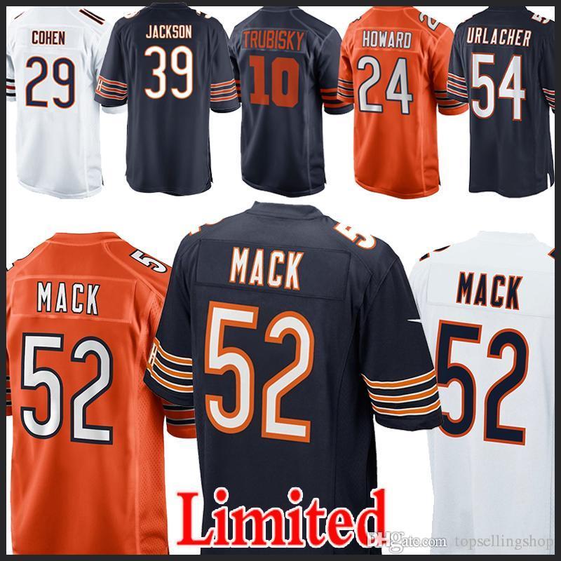 66b7c9bf224 BEARS 39 Eddie Jackson 52 Khalil Mack CHICAGO BEARS Jersey 10 ...
