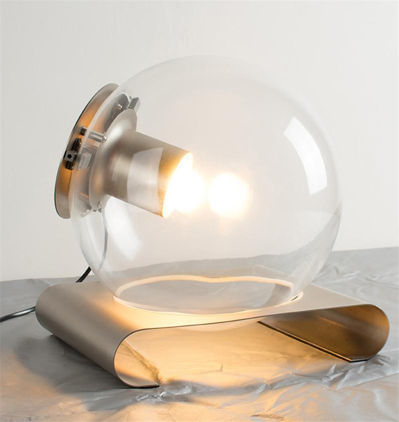 Acquista Lampade Da Tavolo Moderne In Vetro A Led Lampade Rotonde Da