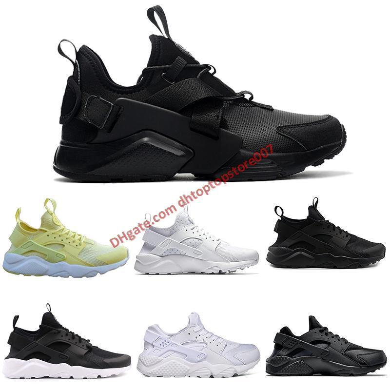 d950b42c14176 2019 New Black White Gold Yellow Grey Red Huaraches Sports Shoes Men ...