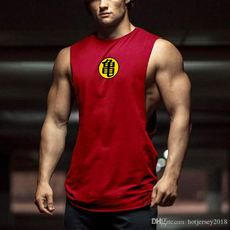 9e83847e2b036 2019 Bodybuilding Drop Armhole Tank Top Mens Dragon Ball Gyms Stringer  Summer Fitness Solid Clothing Loose O Neck Sleeveless Vest  293834 From  Hotjersey2018 ...