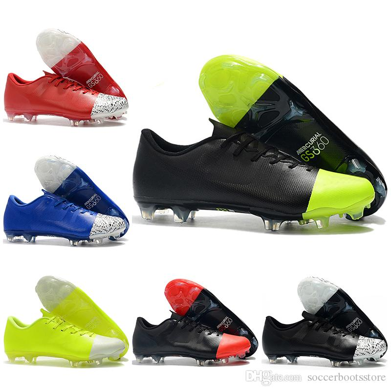 new concept d4cee 46ac1 Mens Low Ankle Football Boots Mercurial Superfly 360 GS FG Soccer Shoes  Superfly VI ACC GS360 Original Soccer Cleats