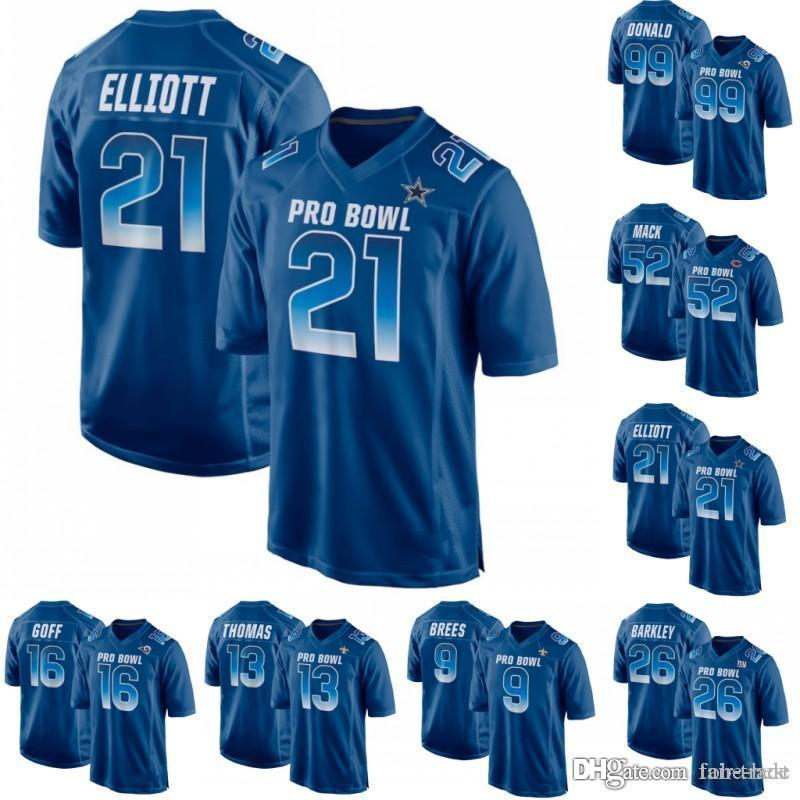 2019 2019 Pro Bowl NFC 12 Mike Evans 13 Michael Thomas 14 Stefon Diggs 17  Davante Adams 99 Aaron Donald 91 Fletcher Cox Royal Game Jerseys From  aa6503330