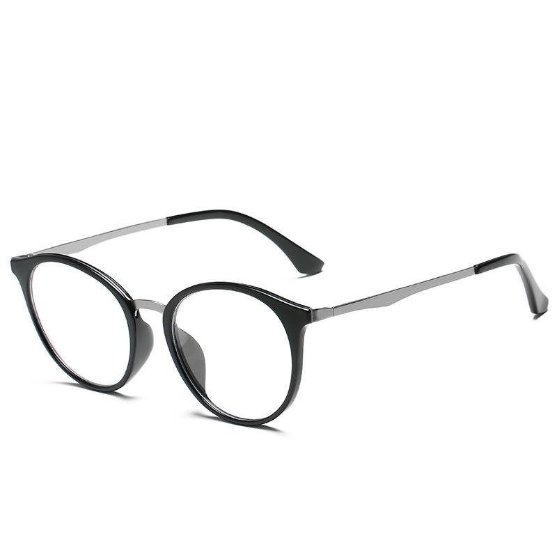 705174b6913 New Pattern Plain Glass Spectacles Fashion Concise Round Box ...