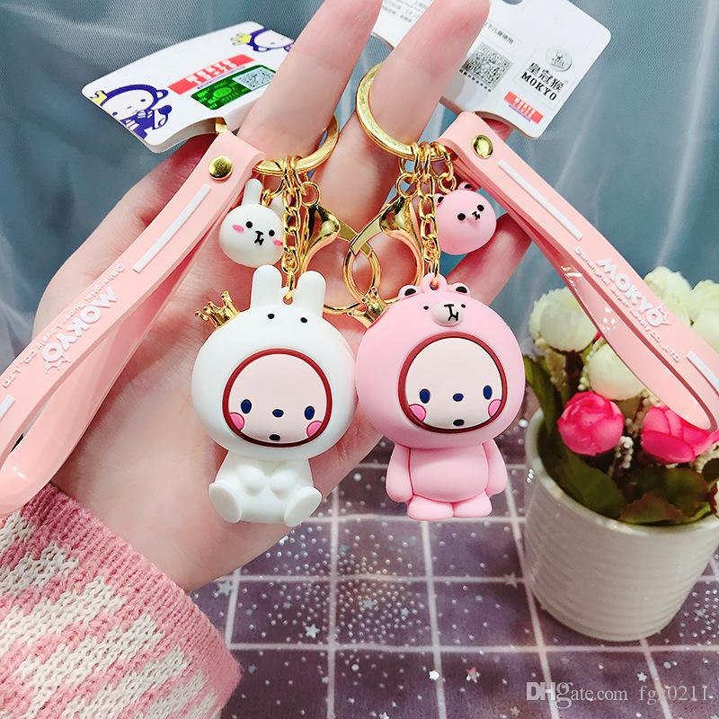 2019 New Crown Monkey Key Chain Cute Puppe Keychain Anhänger Mädchen Tasche Anhänger Verschönerung Keychain Girls Fashion 4567