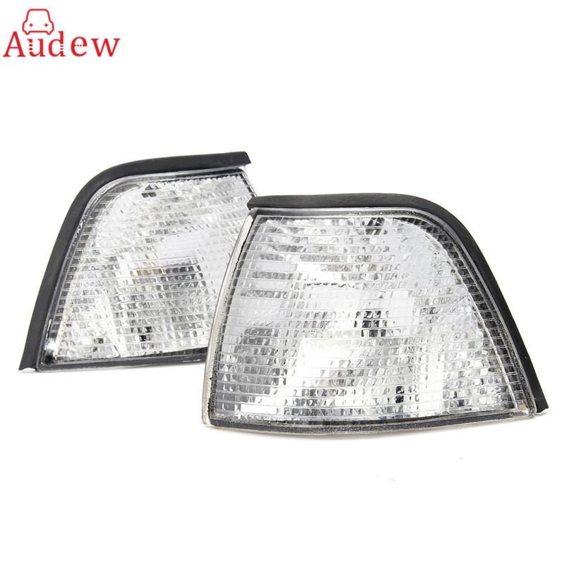 Freeshipping 2Pcs Turn Signals Sidelights Side Lamp Corner Lights For BMW E36 3-Series 4DR Base Sedan 1992-1999 For BMW M3 4DR 1997/1998