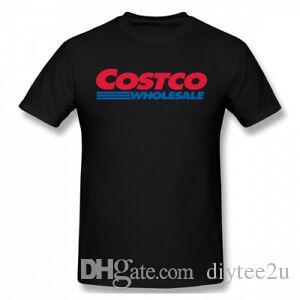 Hombres Costco Wholesale Logo 100% Cotton T Shirt Tee