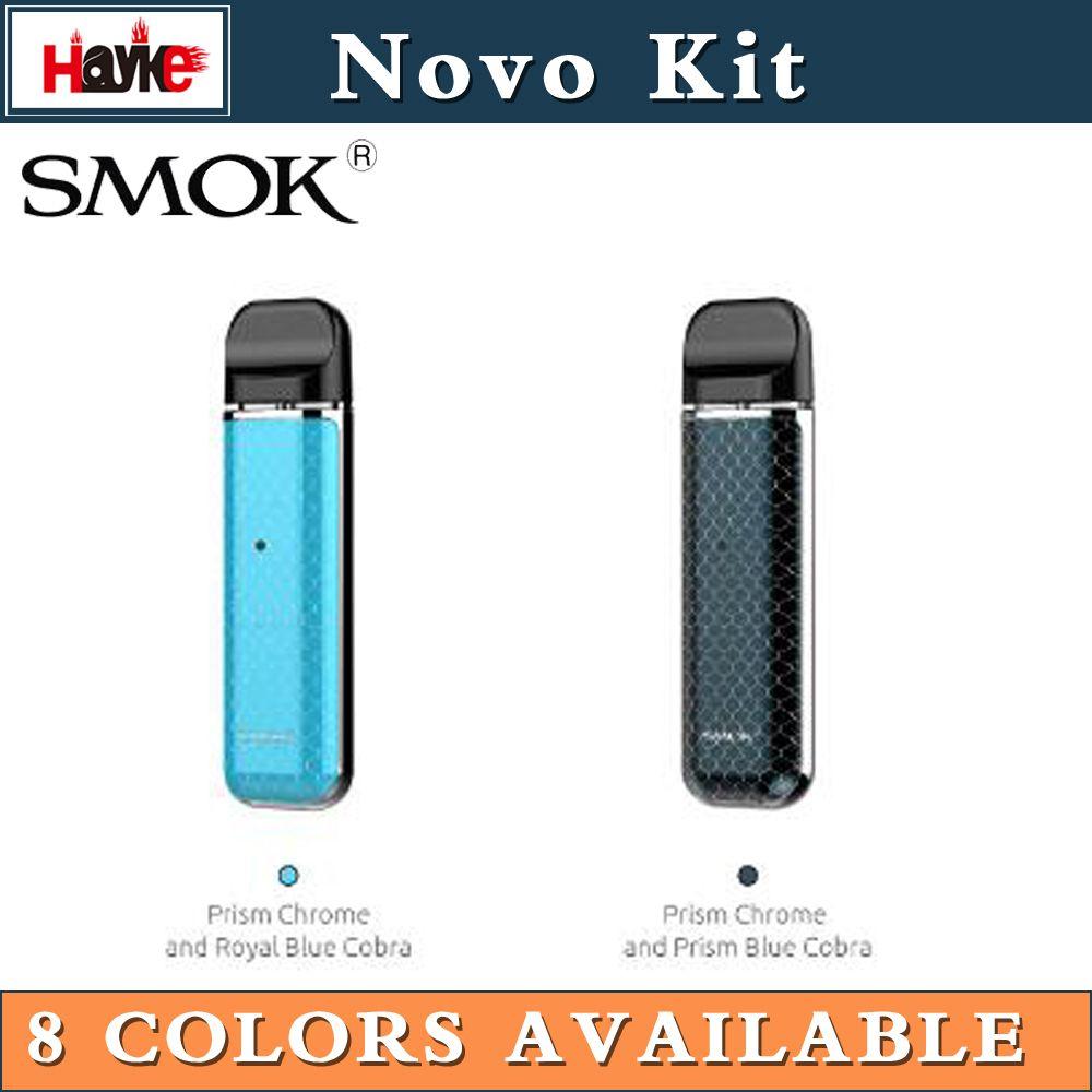 100% Authentic Smok Novo starter kit with 2ml capacity Novo pod cartridge  bulit-in 450mAh battery DHL Free