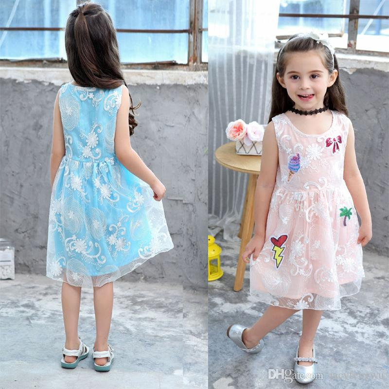 0f89ceb6a05f 2019 Quality Baby Girl Designer Clothes Princess Lace Dresses Clothes Girls  Fashion Skirt Girl Costume Children Party Clothing Hot Sale XZT041 From ...