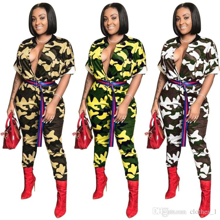 womens designer jumpsuit short sleeve jumpsuit o-neck sexy romper elegant fashion bodycon jumpsuit pullover zipper comfortable clubwear 0881